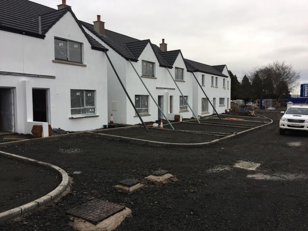Houses nearing completion