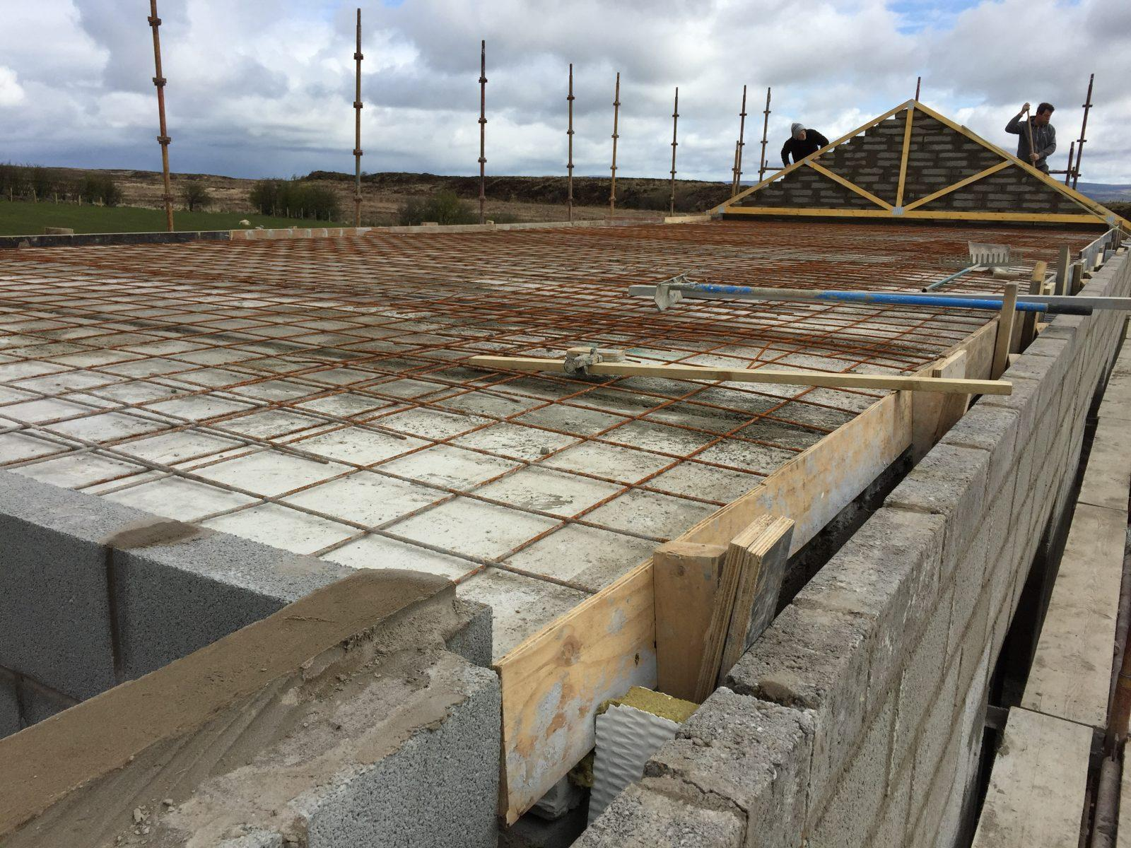 concrete slabs of substation roof