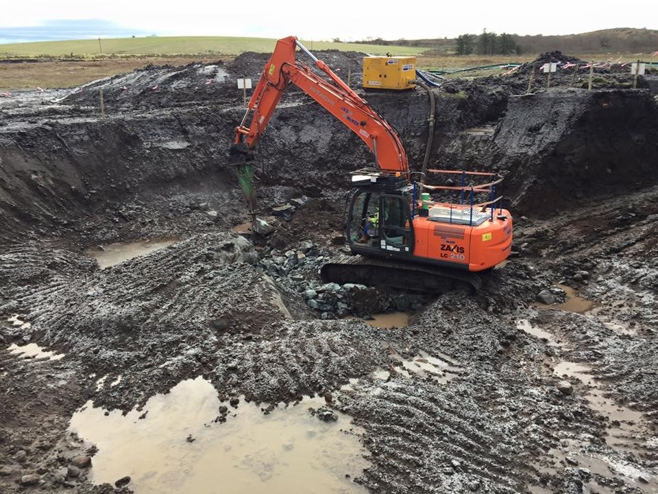 Excavating for turbine bases 2